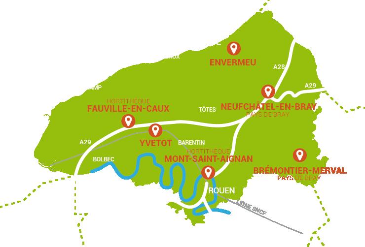Carte Haute-Normandie NATURAPOLE